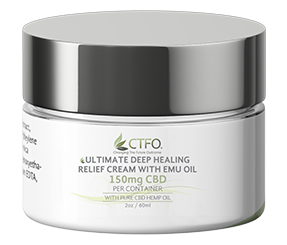 Ultimate Deep Healing Relief Cream with Emu Oil 2oz - 150mg CBD